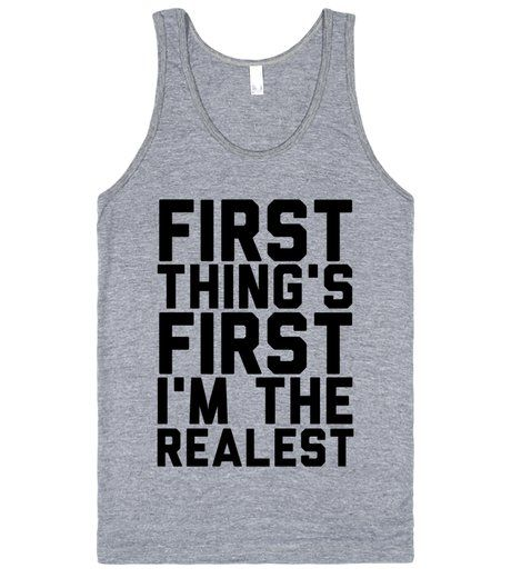 First Thing's First | Tank Top | Front