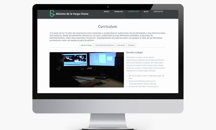 Sección del curriculum para web  http://buff.ly/1nedZkf