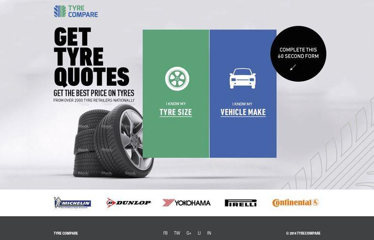 Unique Web Design, Tyre Compare #WebDesign #Design