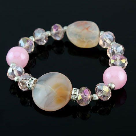 Crystal Alloy Stretchable Fashion Bracelets