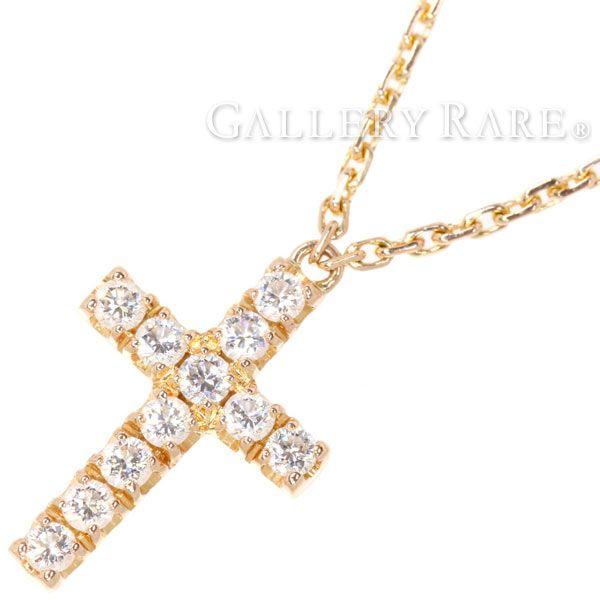 カルティエ ネックレス クロス モチーフ ダイヤモンド K18PGピンクゴールド B7221800 Cartier ジュエリー ペンダント ダイアモンド