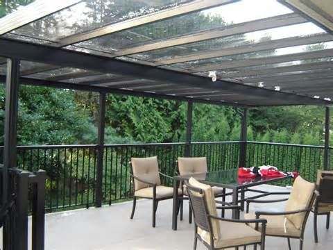 glass and wood patio roof - Google Search