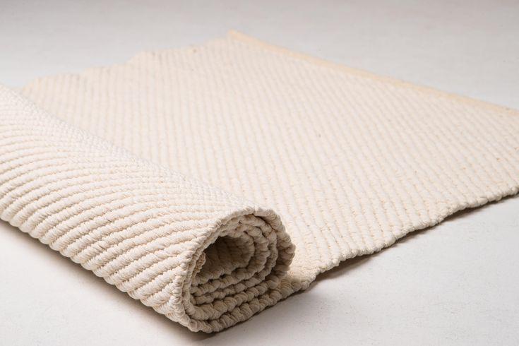 Cotton yoga mat, natural white cotton yoga mat, cotton rug