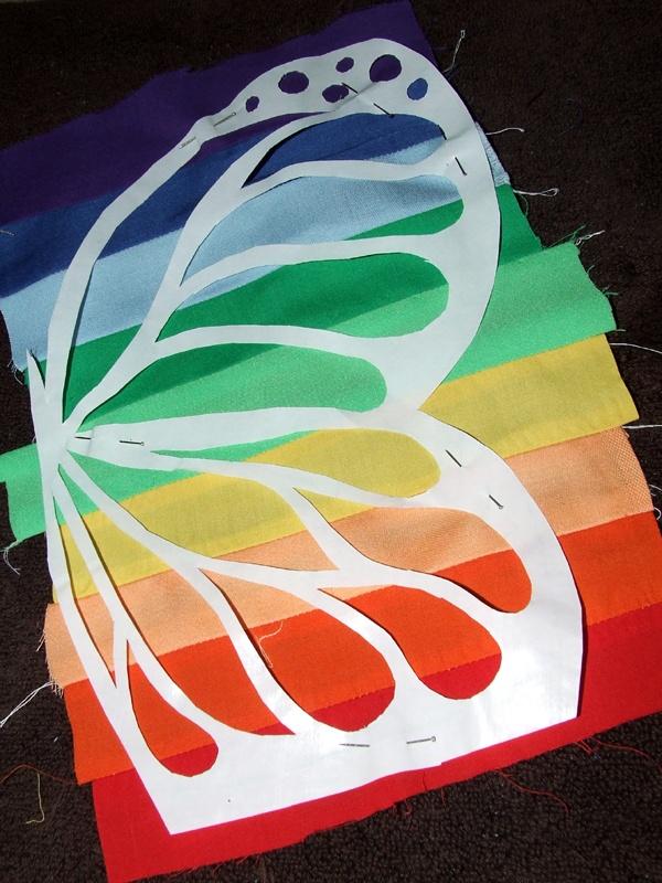 Super smart way to do a multicolor applique...