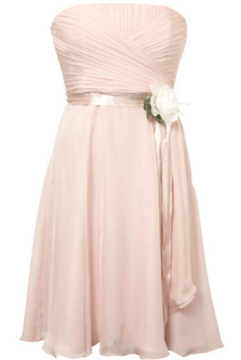 Coast pink chiffon bridesmaid dress