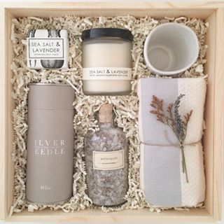 Curated Custom Gift Box. Lavender Gift Box for Mom. Client Gift.