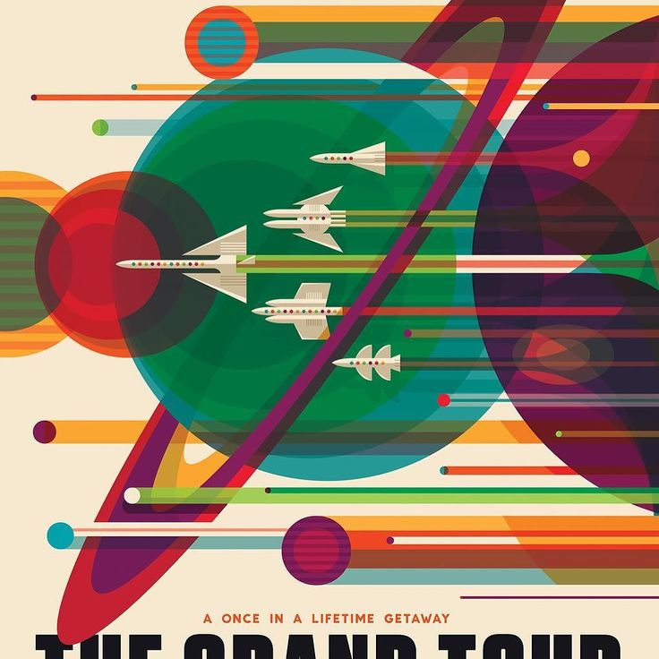 Amazing space travel posters by @nasa. Check more of them @verge http://ift.tt/1QU8YZp