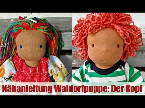 Nähanleitung Waldorfpuppe: Der Kopf | Klassisches Sami Doll Schnittmuster | Teil 1 - YouTube