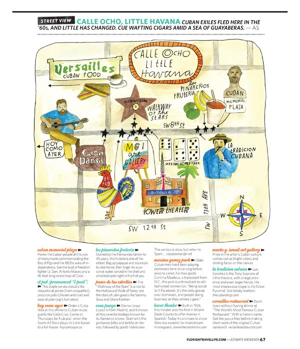 Vacacion  Calle Ocho, Little Havana, Miami map by Lisa Congdon