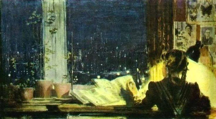 Yuri Pimenov. University lights.