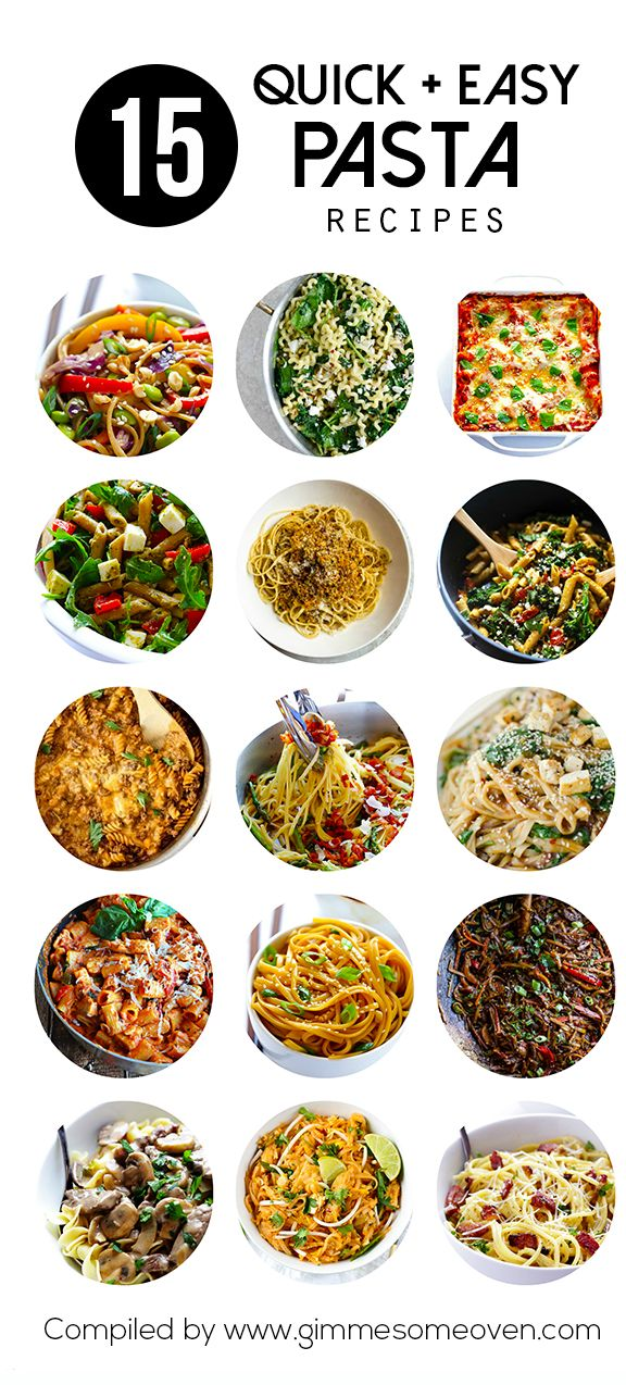 A delicious collection of quick and easy pasta recipes from food bloggers that you're sure to love! | gimmesomeoven.com