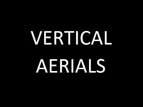 Vertical aerials for HF short wave amateur ham radio bands