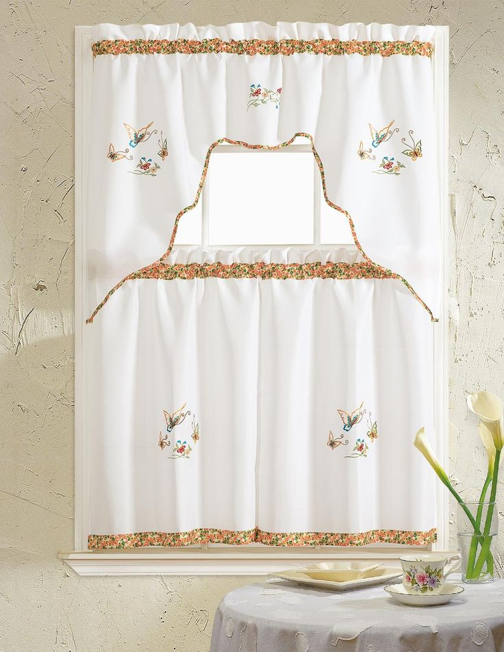 Best 25+ Kitchen curtain sets ideas only on Pinterest   Curtain ...