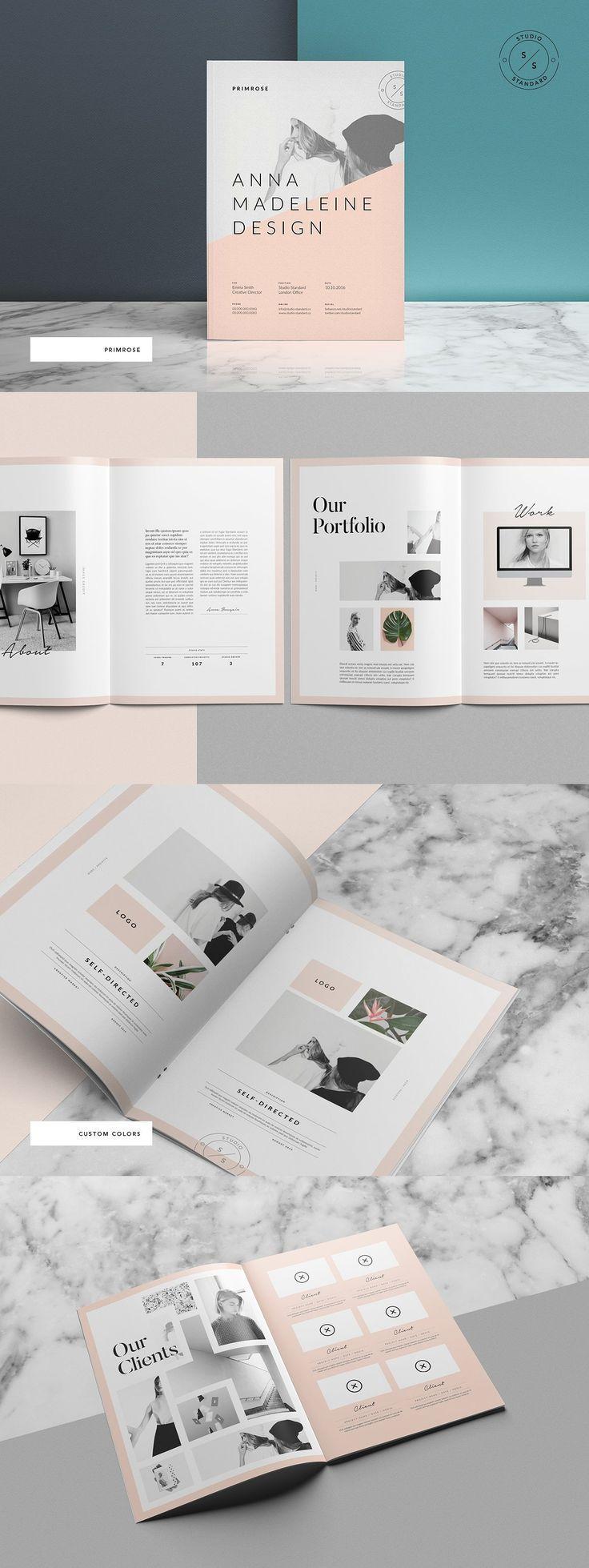 Primrose Portfolio Template #portfolio #brochure #…