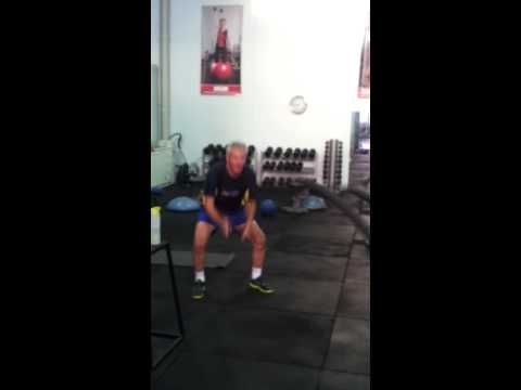 76 Year Old Laurie Ford Smashing Out A Power Rope Workout - YouTube