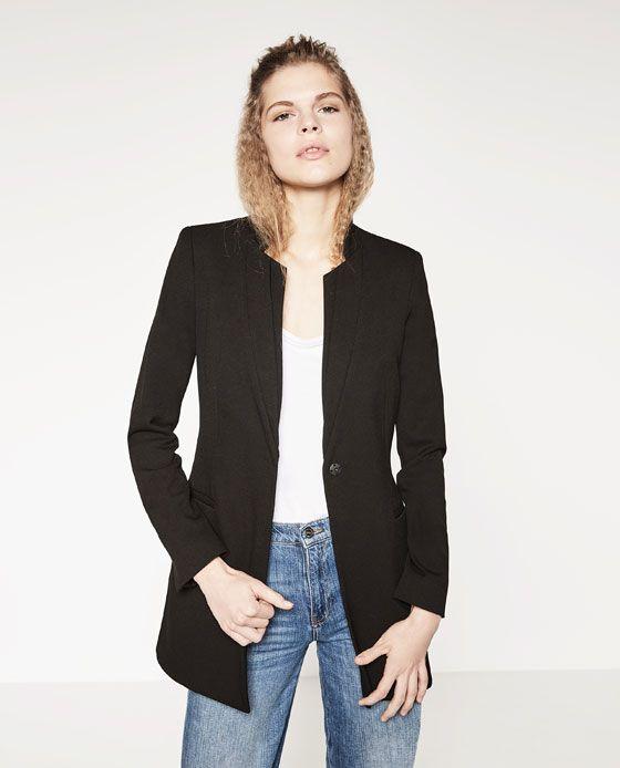 Image 2 of LONG BLAZER from Zara