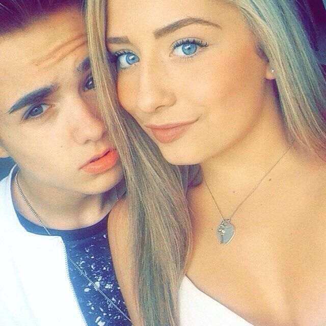 Saffron Barker with Jake mitchell