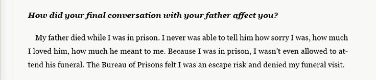 Frank Abagnale Jr. talking about his father, this is really depressing