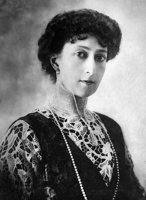 HM Queen Maud of Norway, when Princess Maud of Wales. Princess Maud of Wales (1869-1938) was born at Marlborough House, London as the daughter of Albert Edward, Prince of Wales, the eldest son of Queen Victoria and at that time heir apparent to the British throne. Her mother was Princess Alexandra of Denmark. On 22 July 1896, Princess Maud married her first cousin, Prince Carl of Denmark, who was offered the crown of Norway in 1905.