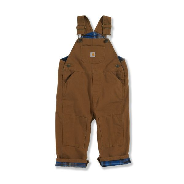 Carhartt flannel lined bib overalls. To wear when he's helping dad work on the car in the garage.