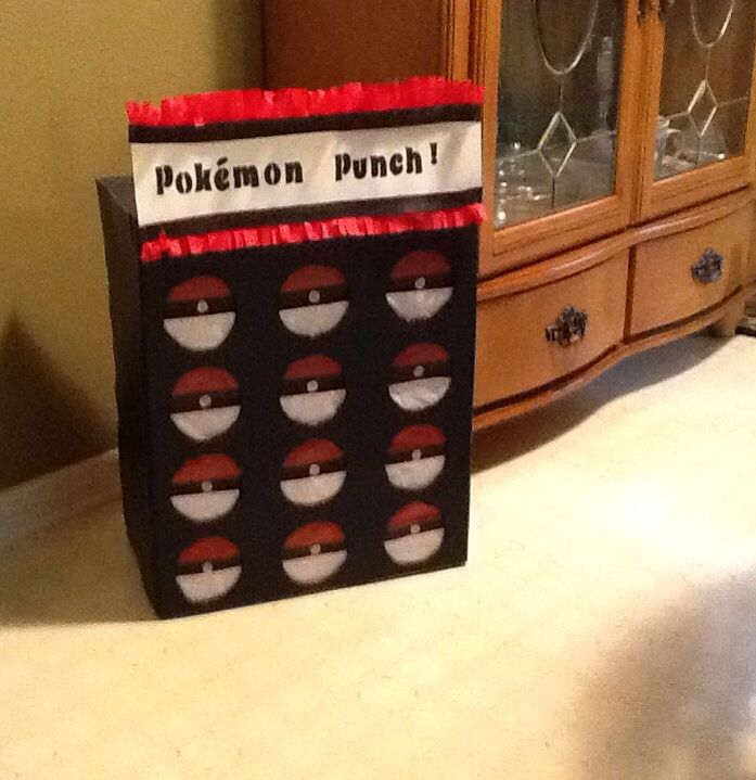 """Pokemon punch box game - hide minifigures for the kids to """"catch""""  -OR- do an egg hunt again with pokemon minifigs inside"""