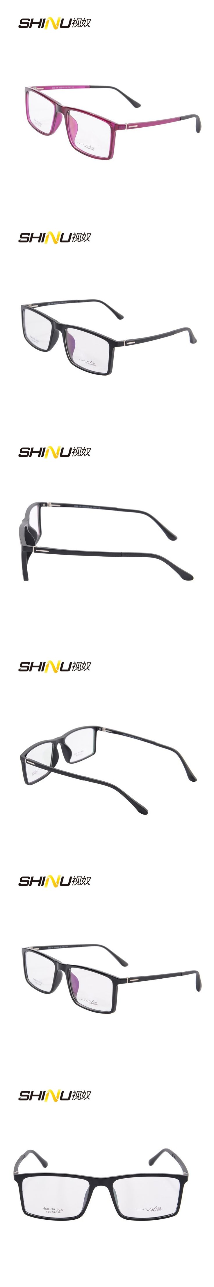 full rim square optical glasses frame  fashion brand designer eyeglasses frame women men clear lens glasses TR3030