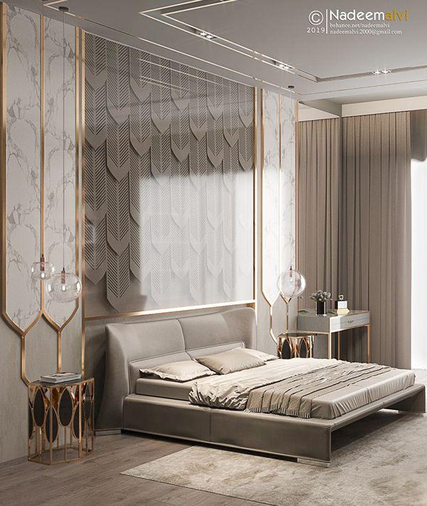 Master Bedroom 1 Prateek Edifice On Behance In 2020 Bedroom Furniture Design Luxury Bedroom Master Modern Luxury Bedroom