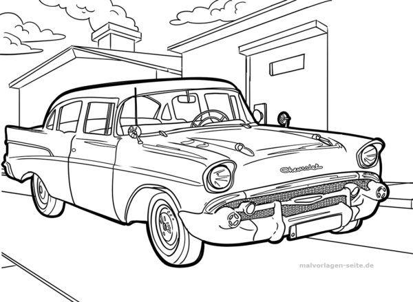Malvorlage Oldtimer Auto   Kostenlose Ausmalbilder ...