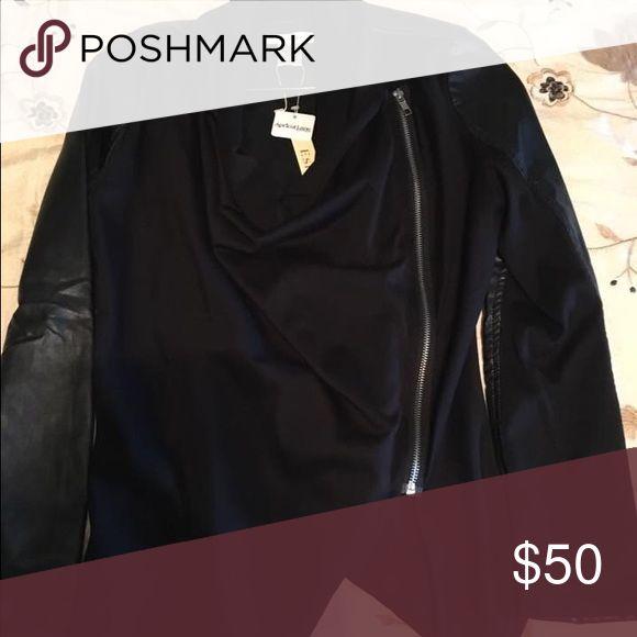 Apricot lane faux leather jacket Size Medium NWT Jackets & Coats
