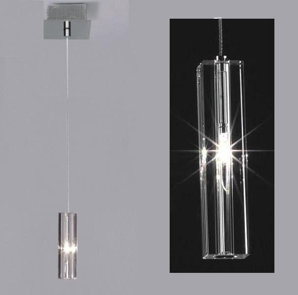 Lampa wisząca pojedyncza Sople podłużny kryształowy klosz - DOSTĘPNA OD RĘKI