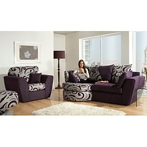 Naples Left Hand Chaise in Purple