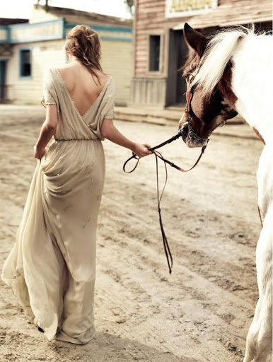 take long walks with wild stallions through deserted towns