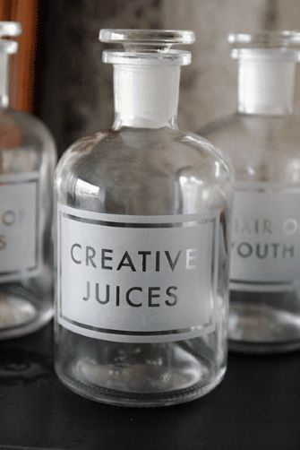 Etched Apothecary Bottle 250ml - Creative Juices