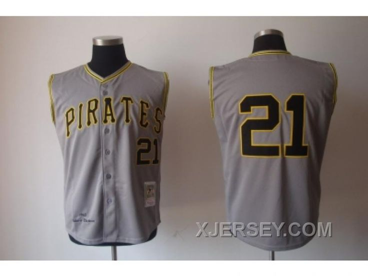 http://www.xjersey.com/mlb-jerseys-pittsburgh-pirates-21-clemente-mn-grey-1962vest-style-cheap.html MLB JERSEYS PITTSBURGH PIRATES #21 CLEMENTE M&N GREY 1962[VEST STYLE] CHEAP Only $34.00 , Free Shipping!