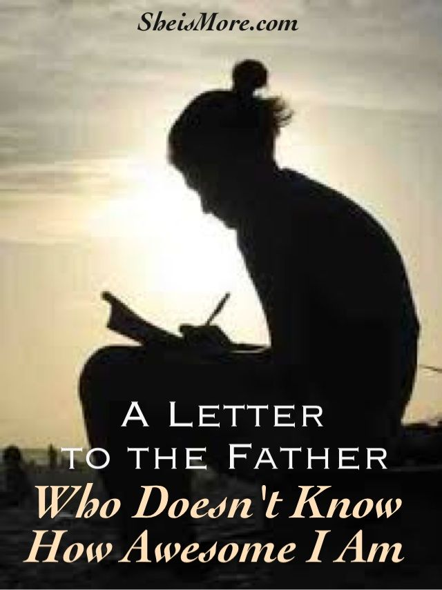 "A lot of girls and women don't have warm and fuzzy feelings on Father's Day.Aly Heinz is a perfect example of a young woman who doesn't allow an absent father to hurt her anymore. ""A Letter To The Father that Doesn't Know How Awesome I Am"" is a must-read  a must-share."