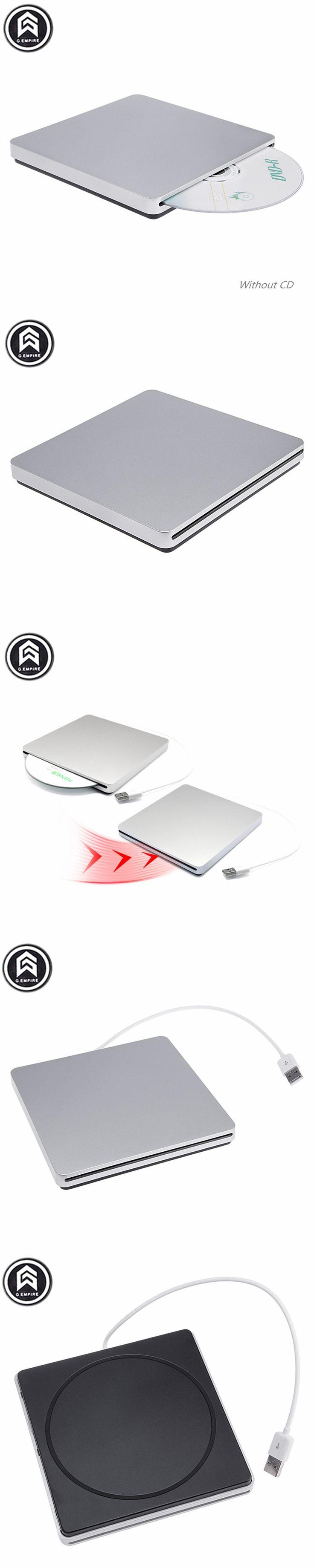 New Portable External Slim  sucker type  USB  DVD-RW/CD-RW Burner Recorder  Optical Drive  Plug and Play For  Apple Macbook Lapt