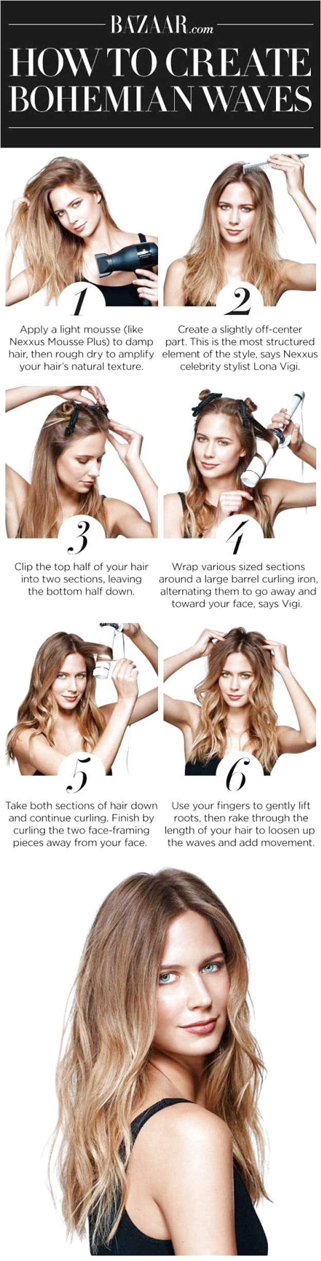 Long Wavy Hairstyles - Step by Step : Boho Waves - Beautiful Long Layered Haircuts And Long Wavy Haircuts With Layers And With Bangs. Half Up Bob Tuto...