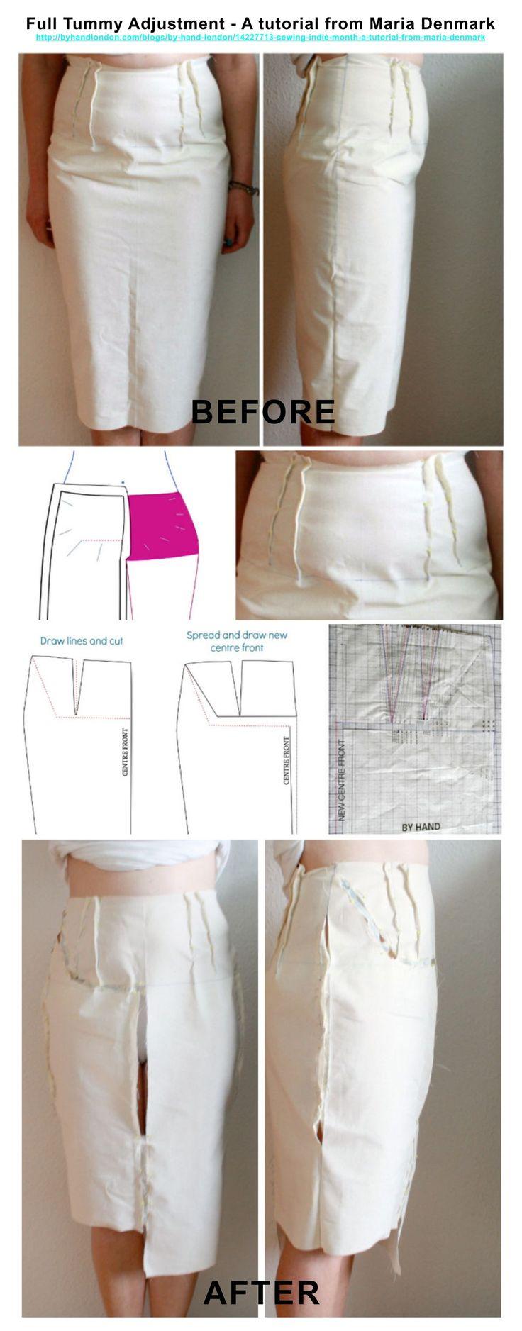 Full tummy pattern adjustment.