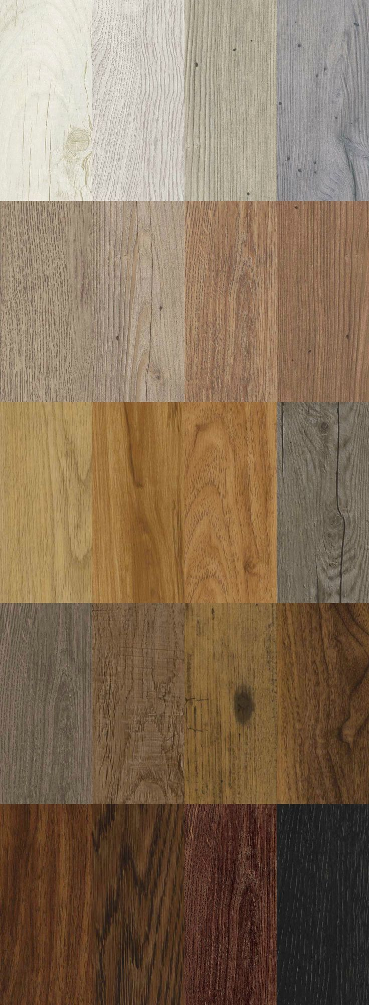 We have 20 different types of sumptuous wood effect flooring! The fine grain detail and texture makes it feel just like the natural material. This is not just any flooring - these are luxury vinyl tiles. Repin if you love this image.