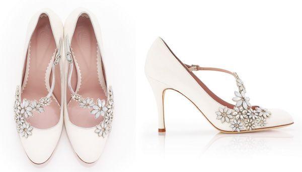 белые свадебные туфли со стразами #wedding #shoes