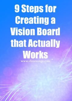 9 steps for creating a vision board that actually works -- I don't know what I think about this approach, but it's interesting.