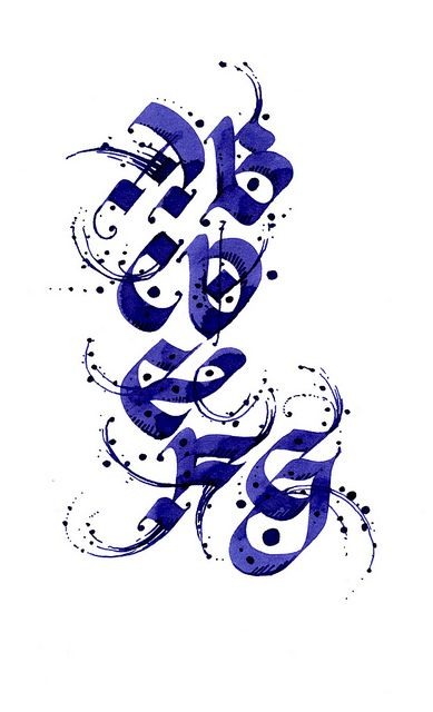 ✍ Sensual Calligraphy Scripts ✍  initials, typography styles and calligraphic art -  Gentian O