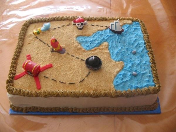 Pirate Sheet Cake Idea #2