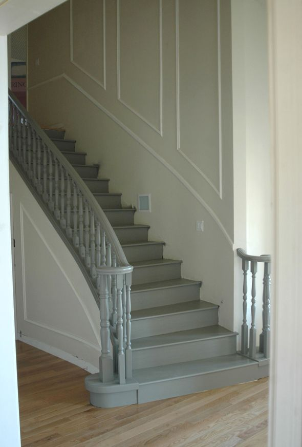 Painting the stairs a lighter color makes a world of difference and