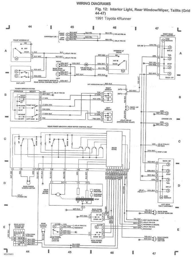Toyota Power Window Switch Wiring Diagram