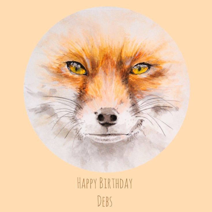 Quick fox sketch for my gorgeous foxy friend Debs Harwood... I did this inside her birthday card