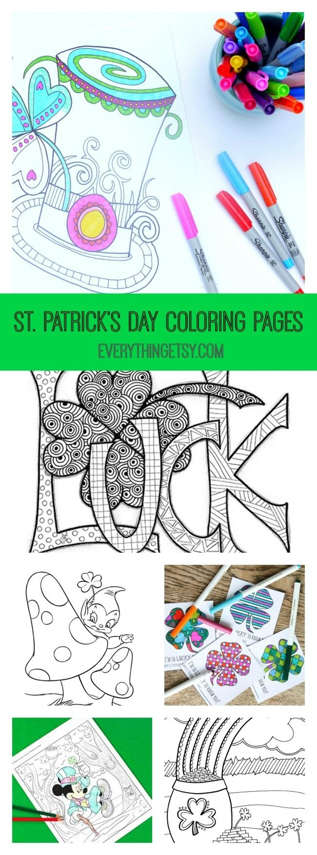 Mobile shimmer and shine coloring games coloring pages ausmalbilder - 12 St Patrick S Day Printable Coloring Pages For Adults Kids