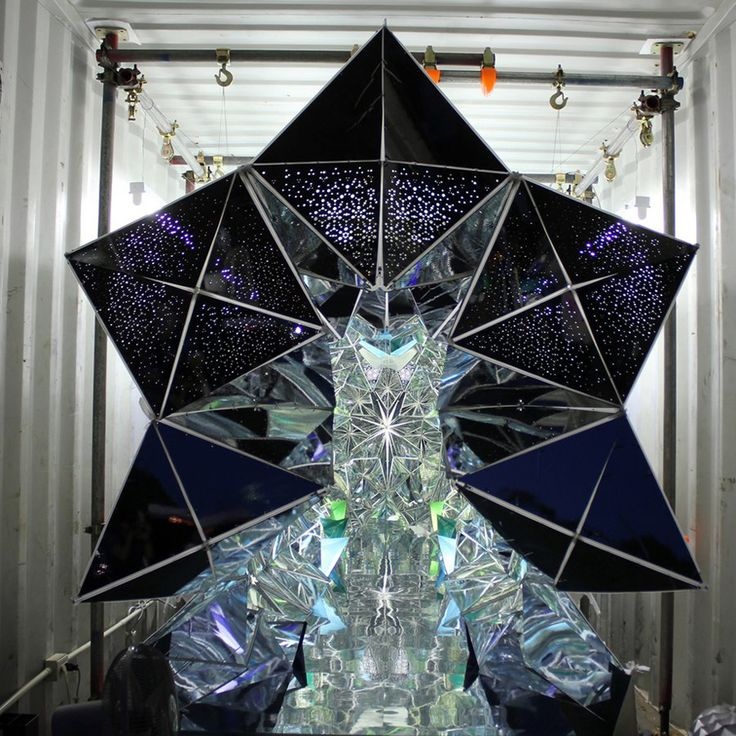 another use for shipping containers the room sized kaleidoscope thats held together with zippers