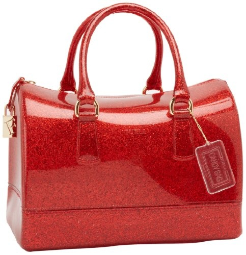 MINE! LOVE    Furla Candy S Bauletto Satchel,Rosso Glam,One Size $228 #Handbags  #Apparel  #FURLA