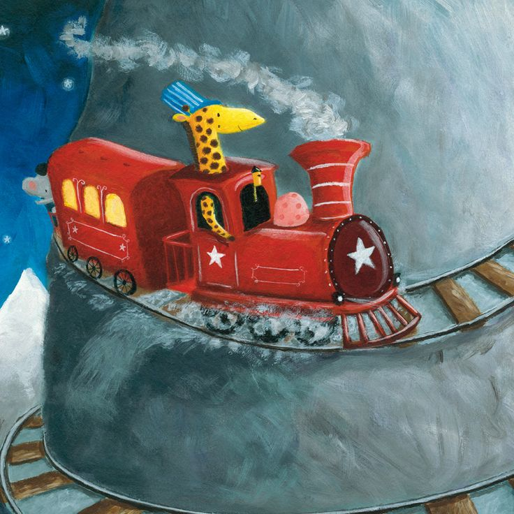 We love the dreamy #illustrations in our #PictureBook 'The Sleepy Train' by #illustrator #MarkMarshall! #kidlitart